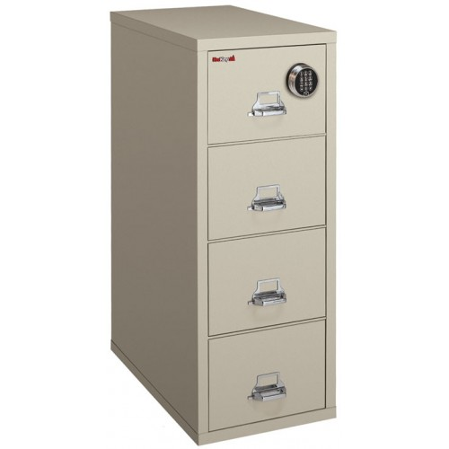 FireKing 4 2157VML   Vertical File Cabinet With Electronic Lock